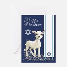 Passover Little Lamb Star And Greeting Cards