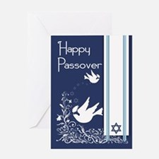 Dove For Passover With Olive Card Greeting Cards