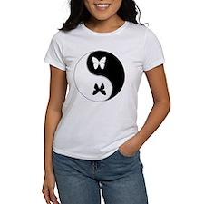 Yin Yang Butterfly Symbol Tee