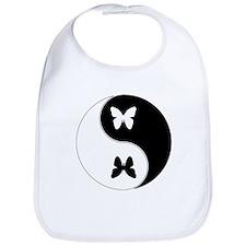 Yin Yang Butterfly Symbol Bib