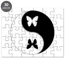 Yin Yang Butterfly Symbol Puzzle