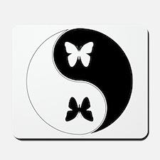 Yin Yang Butterfly Symbol Mousepad