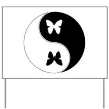 Yin Yang Butterfly Symbol Yard Sign