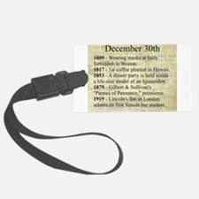 December 30th Luggage Tag
