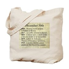December 30th Tote Bag