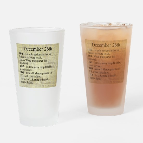 December 26th Drinking Glass