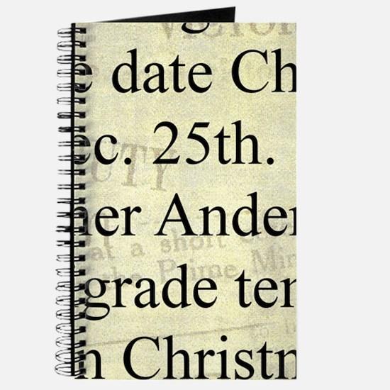 December 25th Journal