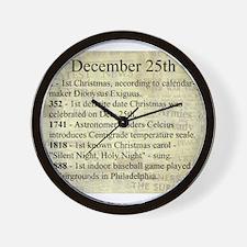 December 25th Wall Clock