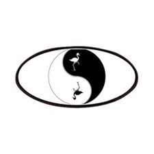 Yin Yang Flamingo Symbol Patches
