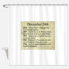 December 24th Shower Curtain