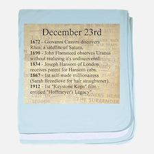 December 23rd baby blanket