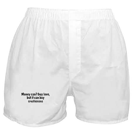 crustaceans (money) Boxer Shorts