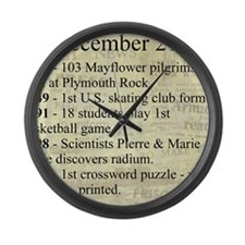 December 21st Large Wall Clock