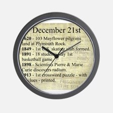 December 21st Wall Clock