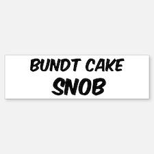 Bundt Cake Bumper Bumper Bumper Sticker