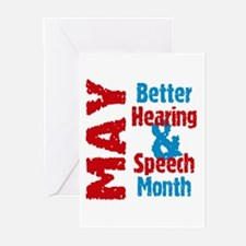Hearing & Speech Month Greeting Cards (Package of