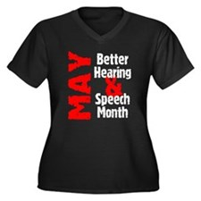 Hearing & Speech Month Women's Plus Size V-Neck Da
