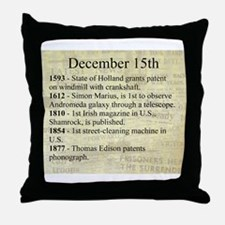 December 15th Throw Pillow