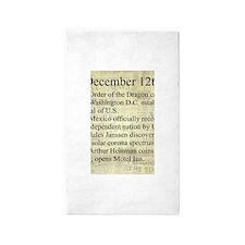 December 12th 3'x5' Area Rug