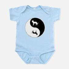 Yin Yang Dog Symbol Infant Bodysuit