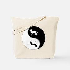 Yin Yang Dog Symbol Tote Bag