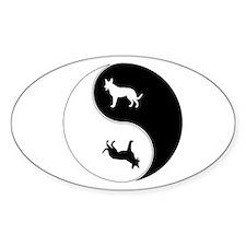Yin Yang Dog Symbol Decal