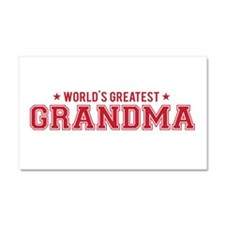 Worlds greatest grandma Car Magnet 20 x 12