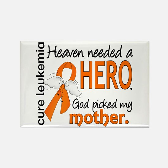 Leukemia Heaven Needed Hero Rectangle Magnet
