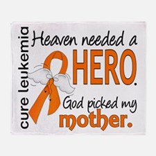 Leukemia Heaven Needed Hero Throw Blanket