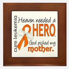 Leukemia Heaven Needed Hero Framed Tile