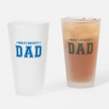 Worlds greatest dad Drinking Glass