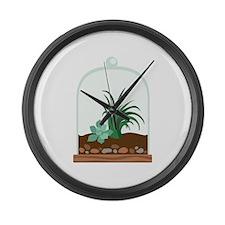 Plant Terrarium Large Wall Clock
