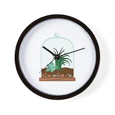 Plant Terrarium Wall Clock