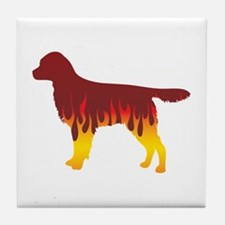 Staby Flames Tile Coaster