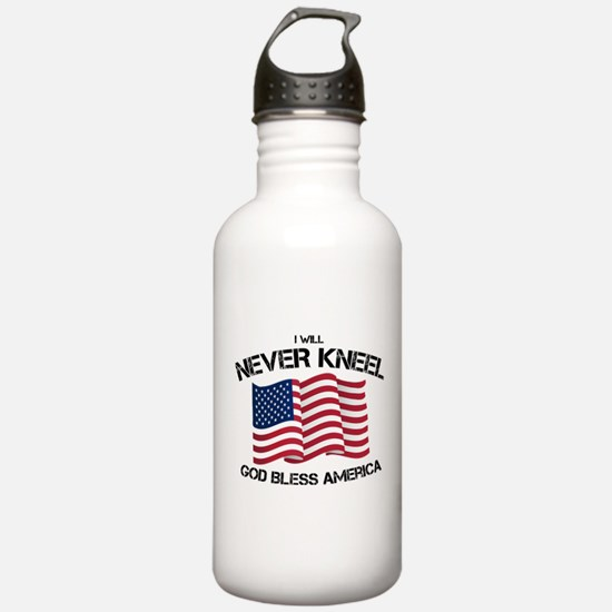 I will never kneel God Water Bottle