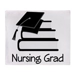 Nursing Grad Throw Blanket