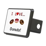 I Love Donuts Rectangular Hitch Cover