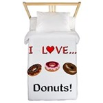 I Love Donuts Twin Duvet