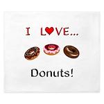 I Love Donuts King Duvet
