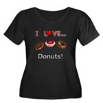 I Love D Women's Plus Size Scoop Neck Dark T-Shirt