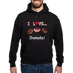 I Love Donuts Hoodie (dark)