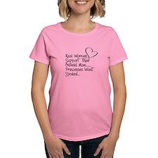 Real Women...women's Dark T-Shirt