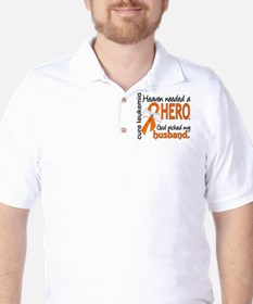Leukemia Heaven Needed Hero 1.1 Golf Shirt