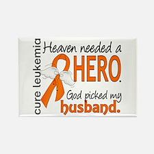 Leukemia Heaven Needed Hero 1.1 Rectangle Magnet