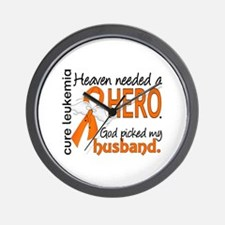 Leukemia Heaven Needed Hero 1.1 Wall Clock