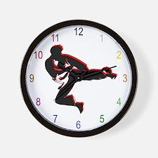 Martial Arts School Wall Clock