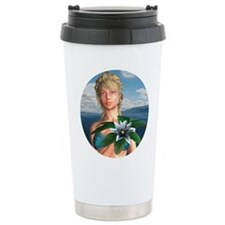 Mermaid holding Water Lily Travel Mug