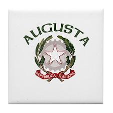 Augusta, Italy Tile Coaster