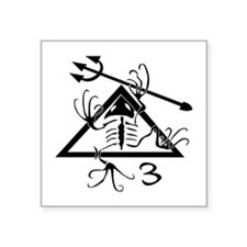 "Cute Navy seal desert frog Square Sticker 3"" x 3"""