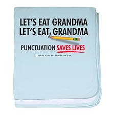 Punctuation Alternate baby blanket